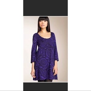 Diane Von Furstenberg purple silk dress